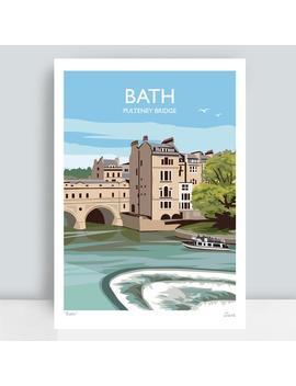 bath,-pulteney-bridge,-england-hand-signed-art-print_travel-poster-by-juliasillustration by etsy