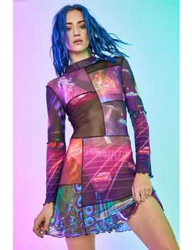future-world-mesh-dress by current-mood