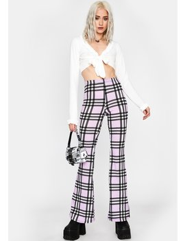 lilac-typical-temptations-plaid-flares by dolls-kill