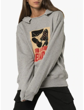 logo-print-hooded-cotton-sweater by delada