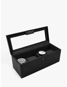 stackers-glass-4-watch-box,-black by stackers