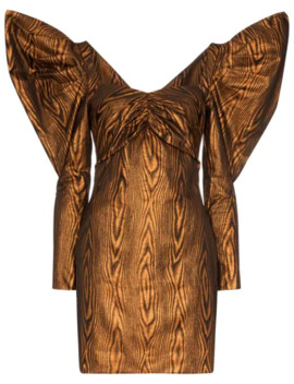 exaggerated-sleeve-mini-dress by house-of-holland