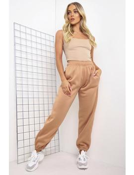 Camel Oversized Joggers by Lasula