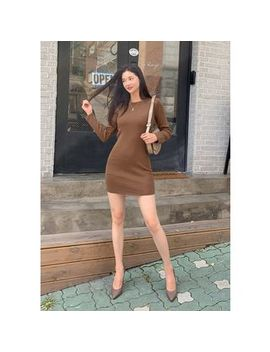chuu---boatneck-knit-mini-bodycon-dress by chuu
