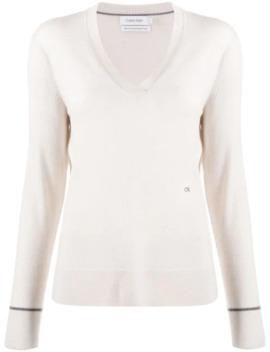 v-neck-slim-fit-jumper by calvin-klein