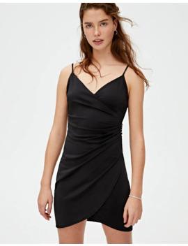 mini-robe-noire-cache-cœur-boutons by pull-&-bear