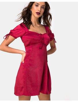 guenette-dress-in-satin-cherry-by-motel by motel