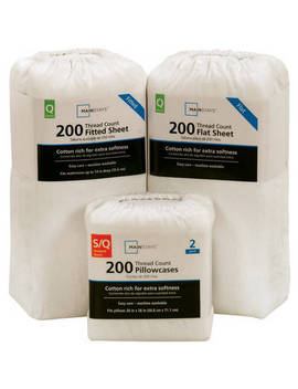 mainstays-200-thread-count-twin---flat-sheet,-arctic-white by mainstays