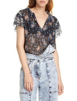 elise-silk-blend-jacquard-blouse by ulla-johnson