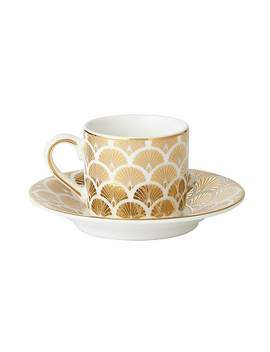 5a-fifth-avenue-bergen-gold-pack-of-2-espresso-cup-and-saucer by dunelm