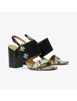 Kira Embossed Leather Sandal by Tory Burch