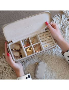 Taupe Large Travel Jewellery Box by Stackers