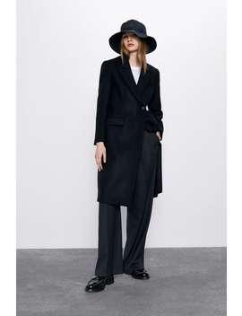 długi-taliowany-płaszcz by zara