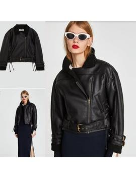 zara-xs-vegan-leather-cropped-jacketnwt by zara