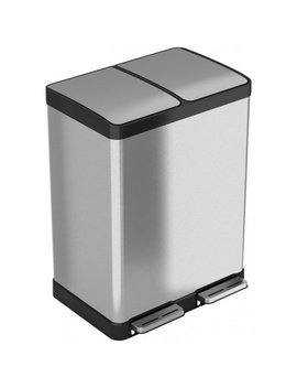 itouchless-softstep-stainless-steel-step-recycler-trash-can,-60-liter-_-16-gallon-(2,-8-gallon-removable-inner-buckets) by itouchless