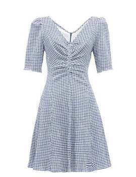 gingham-seersucker-mini-dress by staud