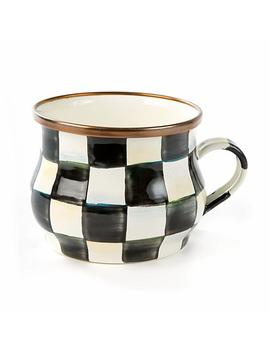 Courtly Check Enamel Teacup by Mac Kenzie Childs