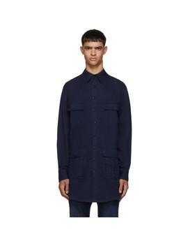blue-saharienne-shirt-jacket by random-identities