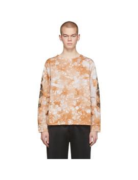 brown-dickies-edition-tie-dye-apron-sweatshirt by clot