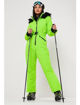 msgd-ski-lime-fitted-snow-suit by missguided