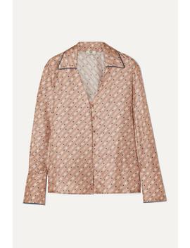 printed-silk-satin-blouse by fendi