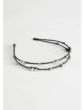 rhinestone-layered-alice-headband by &-other-stories