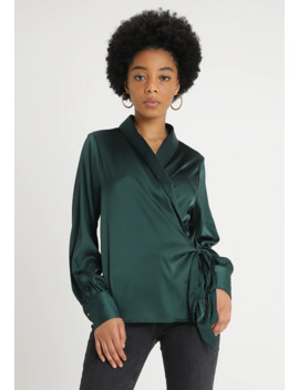 deep-cuff-tie-waist-plunge-blouse---blouse by missguided