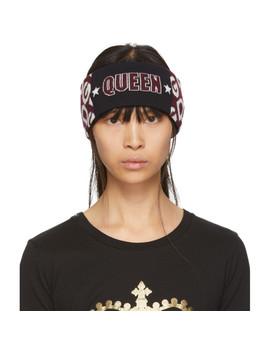 burgundy-&-black-queen-headband by dolce-&-gabbana