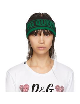 green-&-black-dg-queen-headband by dolce-&-gabbana