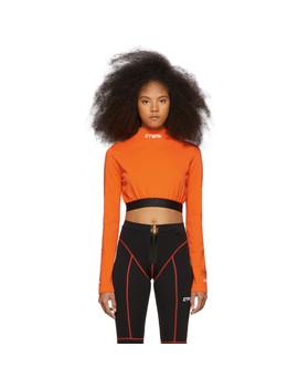 orange-style-cropped-long-sleeve-t-shirt by heron-preston