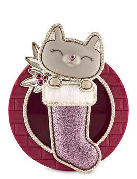 cat-in-stocking-visor-clip   car-fragrance-holder--- by bath-&-body-works