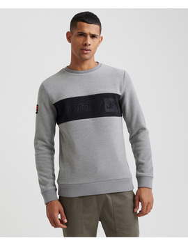 polar-fleece-embossed-sweatshirt by superdry