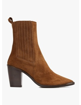 bottines-à-bout-pointu-en-cuir-marron by jonak