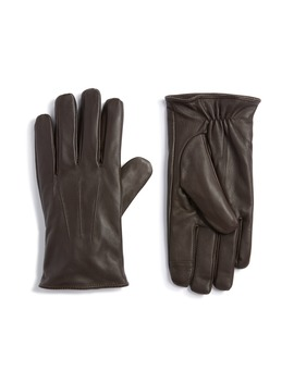 leather-touchscreen-gloves by topman