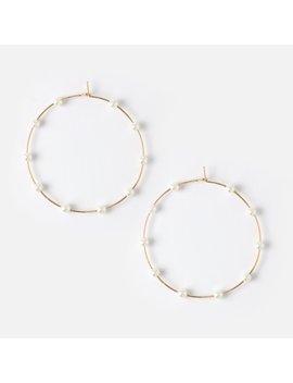 large-multi-pearl-hoops by orelia