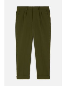 Carrot Fit Pleated Trousers by Ami Paris