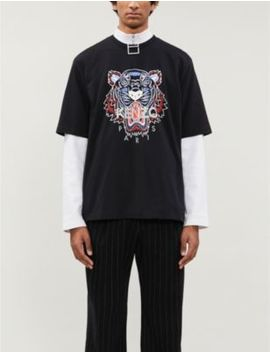 tiger-classic-fit-cotton-jersey-t-shirt by kenzo