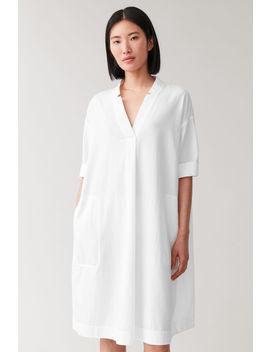voluminous-cotton-shirt-dress by cos