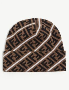 ff-logo-wool-beanie by fendi