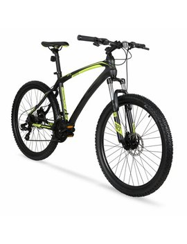 "hyper-26""-carbon-fiber-mens-mountain-bike,-black_green by hyper"