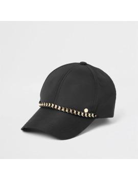 black-chain-baseball-cap by river-island
