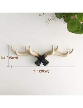 vintage-deer-antlers-rack-decorative-wall-hook-antler-coat-key-hooks-home-hanger by wish