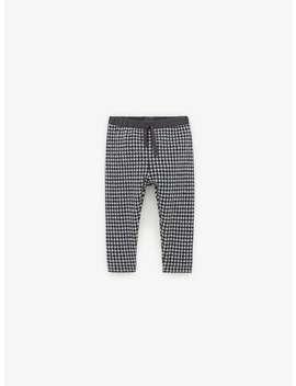 soft-finish-check-leggings by zara