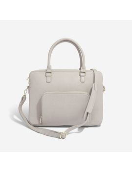 Taupe Laptop Bag by Stackers
