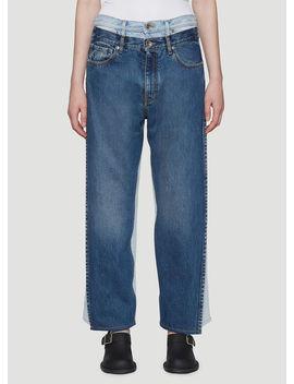 Vintage Wash Jeans In Blue by Maison Margiela