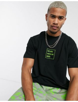 night-addict-play-list-back-print-slogan-t-shirt by asos