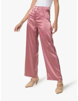 marfa-wide-leg-satin-trousers by nanushka