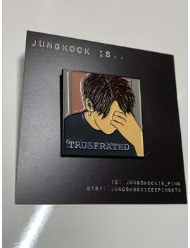 in-stock:-bts-jungkook-trusfrated-vlive-moment-enamel-pin by etsy