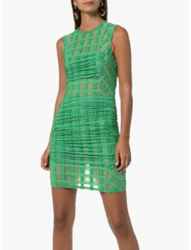 mesh-check-mini-dress by eckhaus-latta