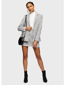 Ivory Double Breasted Boucle Blazer by Miss Selfridge